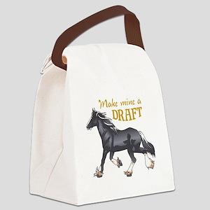 MAKE MINE A DRAFT Canvas Lunch Bag