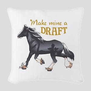 MAKE MINE A DRAFT Woven Throw Pillow
