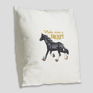 MAKE MINE A DRAFT Burlap Throw Pillow