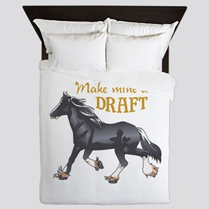 MAKE MINE A DRAFT Queen Duvet