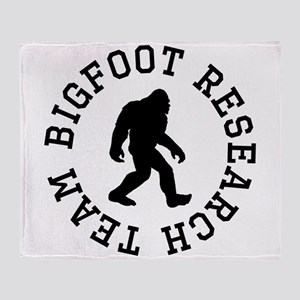 Bigfoot Research Team Throw Blanket