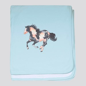 PAINT HORSE baby blanket