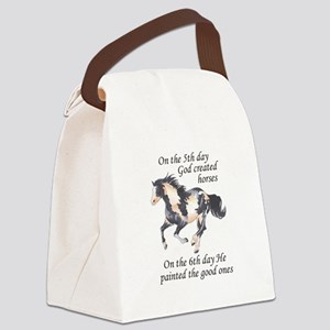 ON THE SIXTH DAY Canvas Lunch Bag