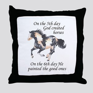 ON THE SIXTH DAY Throw Pillow