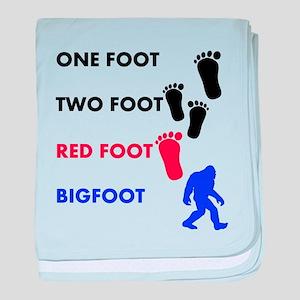 One Foot Two Foot Red Foot Bigfoot baby blanket