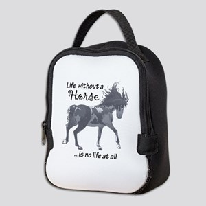 LIFE WITHOUT A HORSE Neoprene Lunch Bag