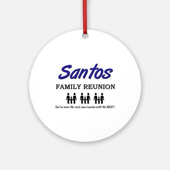 Santos Family Reunion Ornament (Round)