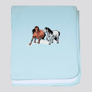 HORSES ONLY baby blanket