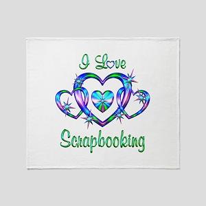 I Love Scrapbooking Throw Blanket