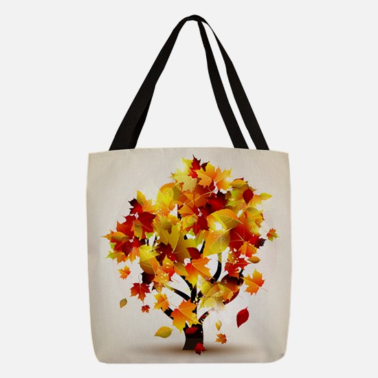 Autumn Tree Polyester Tote Bag