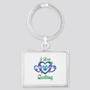 I Love Quilting Landscape Keychain