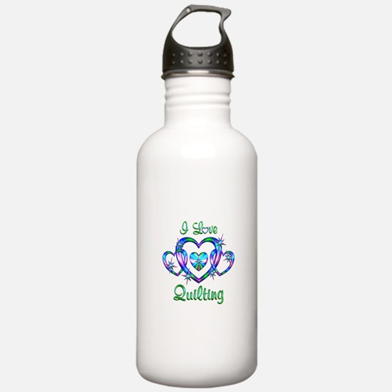 I Love Quilting Water Bottle