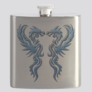 twin dragons new (W) Flask