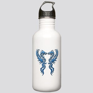 twin dragons new (W) Water Bottle