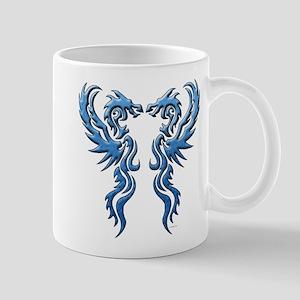 twin dragons new (W) Mugs