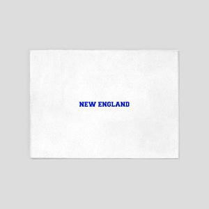 New England-Fre blue 5'x7'Area Rug