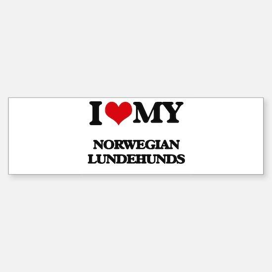 I love my Norwegian Lundehunds Bumper Bumper Bumper Sticker