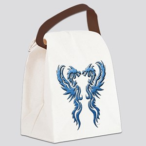 twin dragons new (W) Canvas Lunch Bag