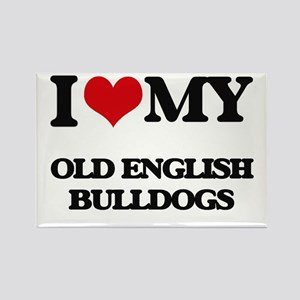 I love my Old English Bulldogs Magnets