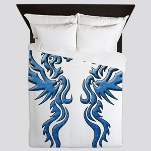 twin dragons new (W) Queen Duvet