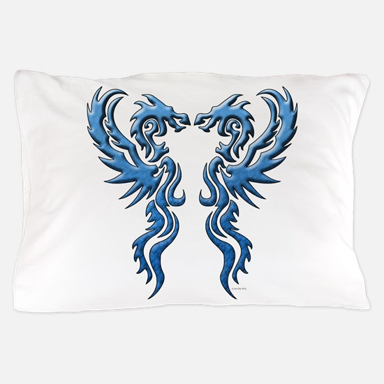 twin dragons new (W).png Pillow Case