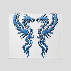 twin dragons new (W) Throw Blanket
