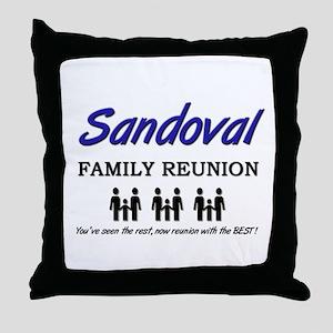 Sandoval Family Reunion Throw Pillow