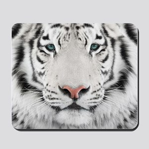 White Tiger Head Mousepad