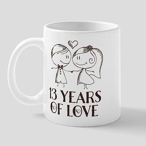 13th Anniversary chalk couple Mug
