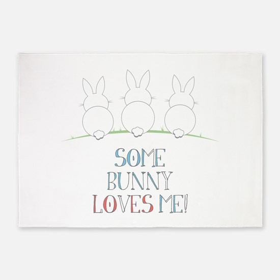 Some Bunny Loves Me 5'x7'Area Rug