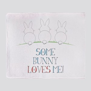 Some Bunny Loves Me Throw Blanket