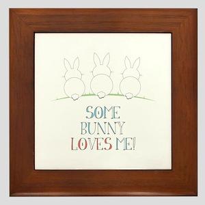 Some Bunny Loves Me Framed Tile