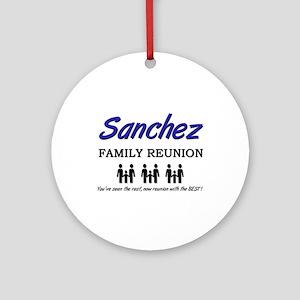 Sanchez Family Reunion Ornament (Round)