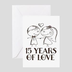 15th Wedding Anniversary Greeting Card