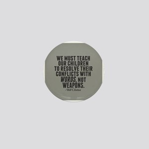Words Not Weapons Mini Button