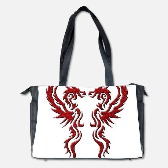 Twin Dragons T Png Diaper Bag