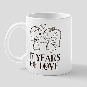 17th Anniversary chalk couple Mug