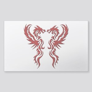 twin dragons (t) Sticker