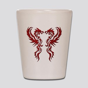 twin dragons (t) Shot Glass