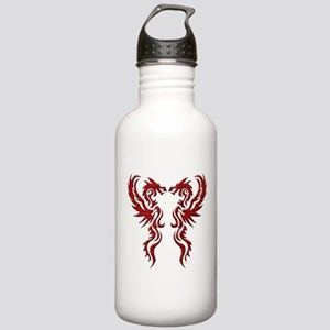 twin dragons (t) Water Bottle