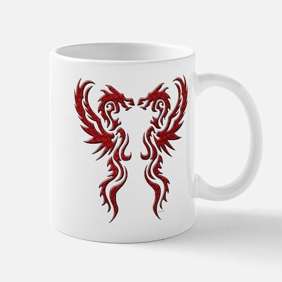 twin dragons (t).png Mugs