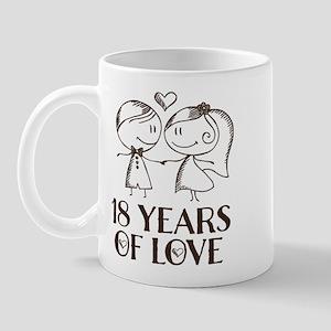 18th Anniversary chalk couple Mug