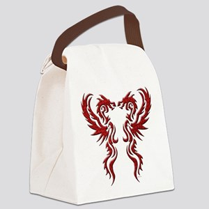 twin dragons (t) Canvas Lunch Bag