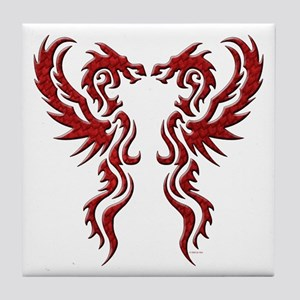 twin dragons (t).png Tile Coaster