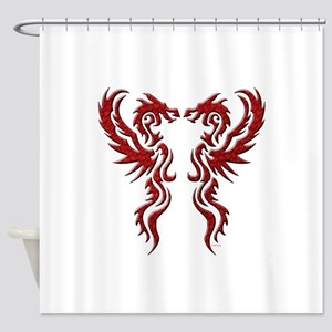 twin dragons (t) Shower Curtain