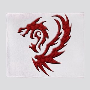 twin dragons (t) Throw Blanket