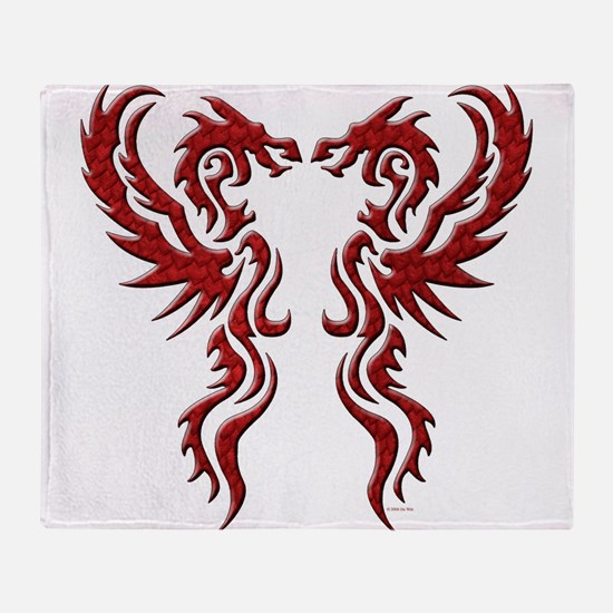 twin dragons (t).png Throw Blanket