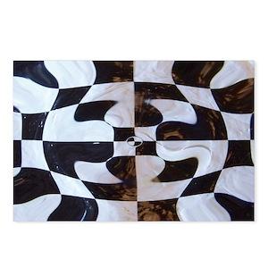 0d7e48c0c3 Black And White Checkered Stationery - CafePress