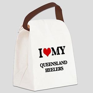 I love my Queensland Heelers Canvas Lunch Bag