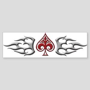 Tribal spade band Bumper Sticker